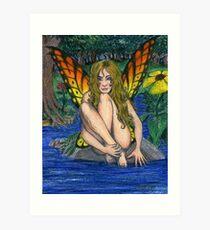 Butterfly Stone Art Print