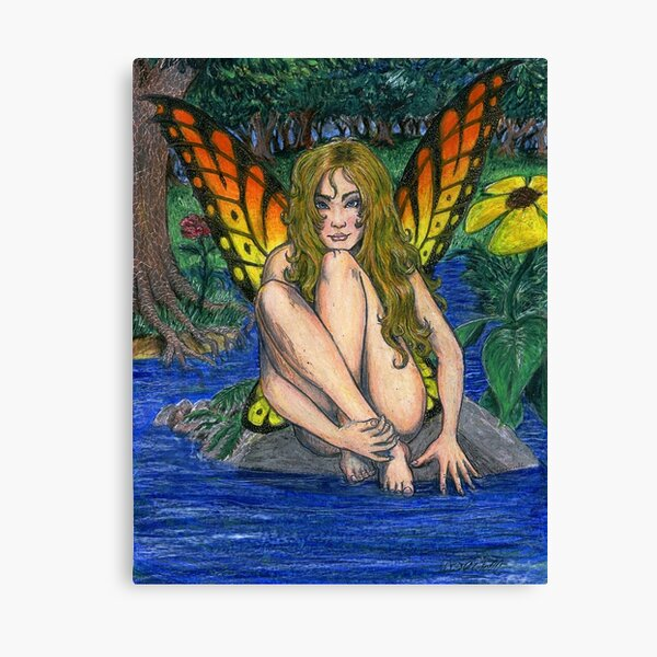 Butterfly Stone Canvas Print