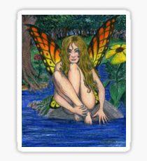 Butterfly Stone Sticker