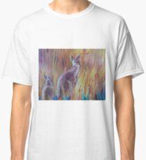 Kangaroos in Long Grass Classic T-Shirt
