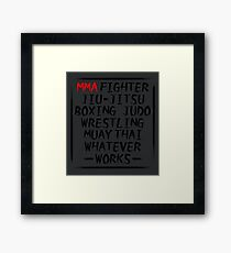 MMA Fighter Framed Print