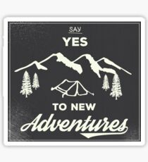 New Adventures Sticker