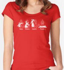 Ikkyo Nikkyo Sankyo Floor Women's Fitted Scoop T-Shirt