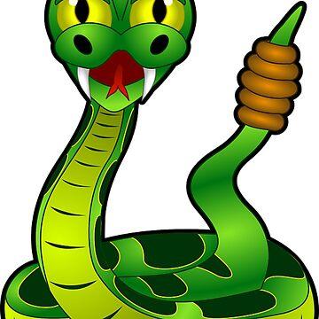 Cartoon Rattlesnake by LittleCsDesigns