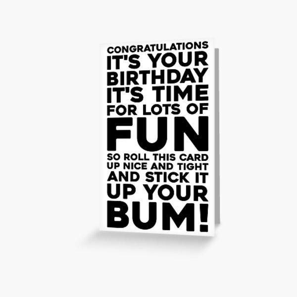 Bottom Funny Birthday Card Greeting Card