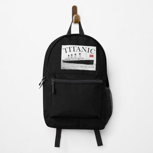 TITANIC, RMS Titanic, Cruise, Ship, Disaster. On Black. Backpack