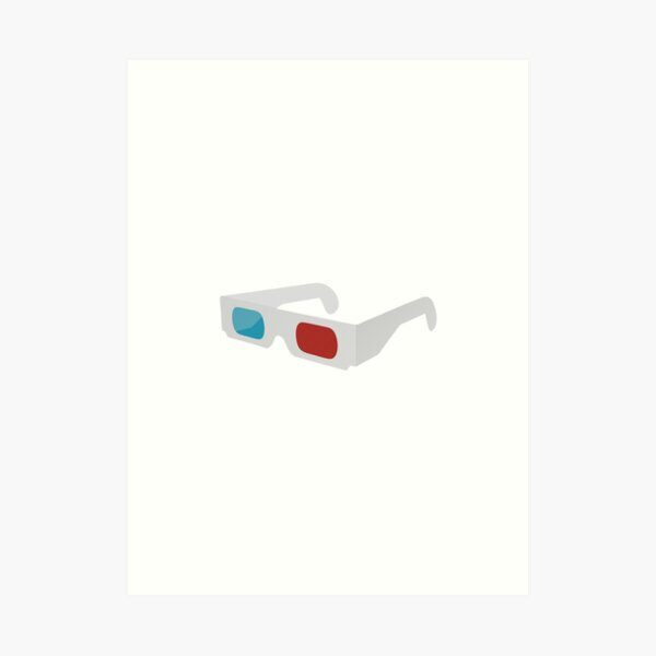 anaglyph stereographic 3D glasses Art Print