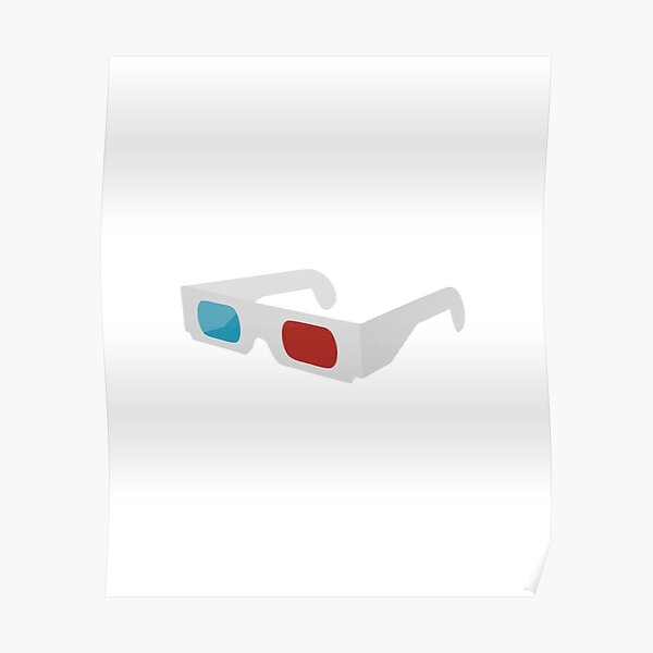 anaglyph stereographic 3D glasses Poster