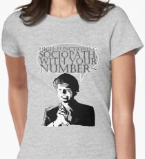 High-Functioning Sociopath. Womens Fitted T-Shirt