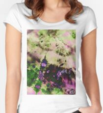 Digital Tie-Dye Two Women's Fitted Scoop T-Shirt