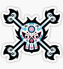 Mexican 'Day of the Dead' Skull Pattern Sticker