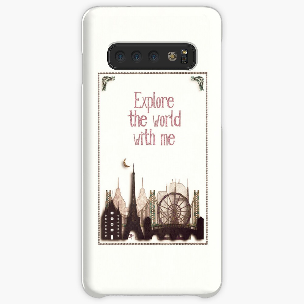 explore the world with me Case & Skin for Samsung Galaxy