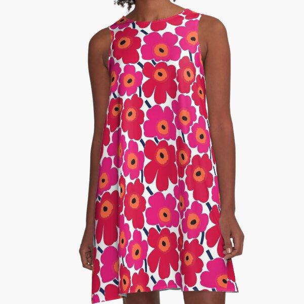 Marimekko summer red design A-Line Dress