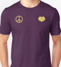Peace and Love - Josuke Slim Fit T-Shirt