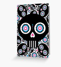 Mexican 'Day of the Dead' Skull Pattern Greeting Card