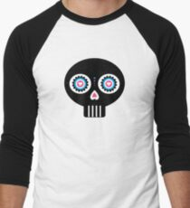 Mexican 'Day of the Dead' Skull Pattern Men's Baseball ¾ T-Shirt