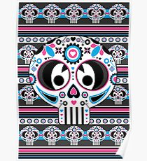 Mexican 'Day of the Dead' Skull Poster