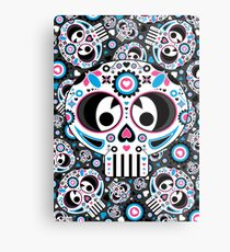Mexican 'Day of the Dead' Skull  Metal Print