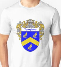 Tompkins Coat of Arms / Tompkins Family Crest T-Shirt