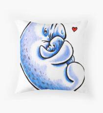 A Manatee Mother's Love Throw Pillow