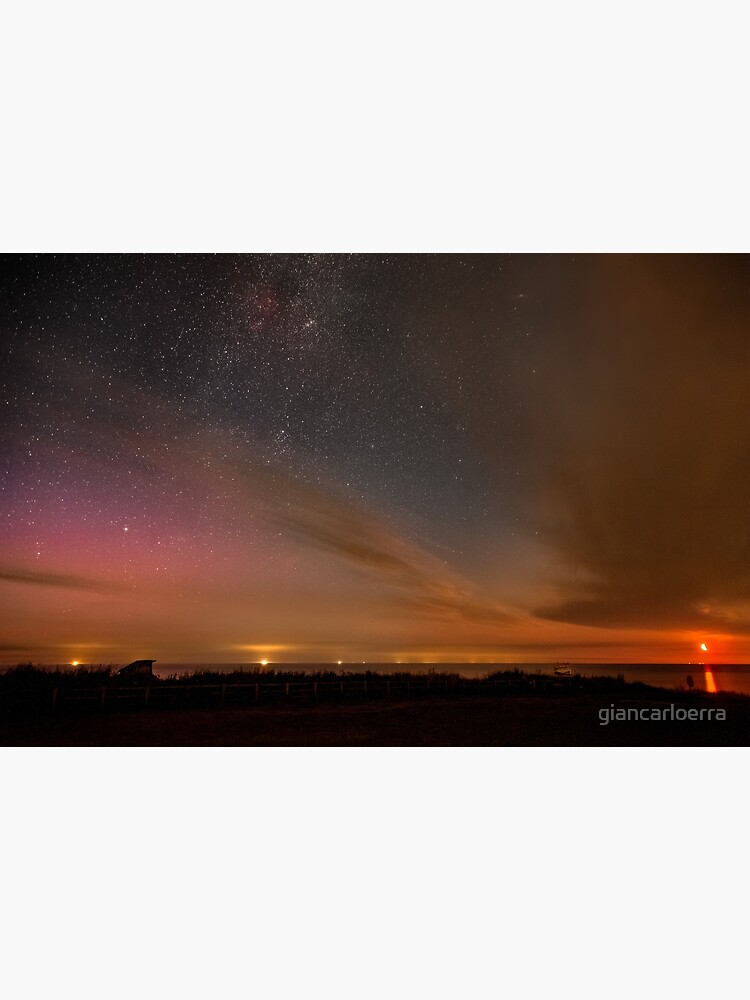 Happisburgh - Milky Way with rising Moon & Northern Lights by giancarloerra