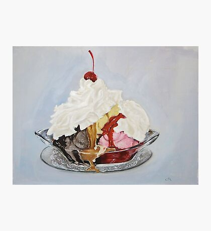 Ice-cream Sundae Photographic Print