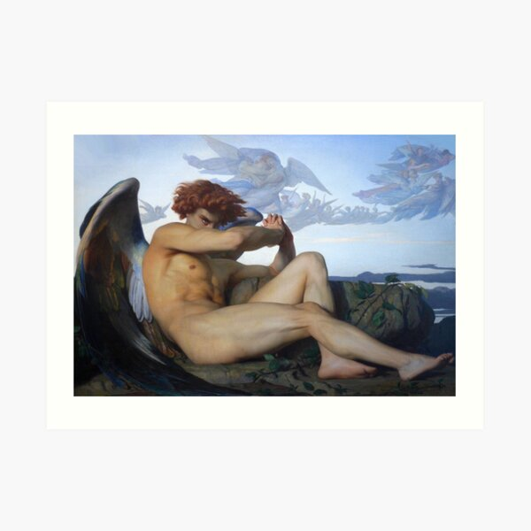 Fallen Lucifer Fallen Angel By Alexandre Cabanel Art Print By Queenie21 Redbubble