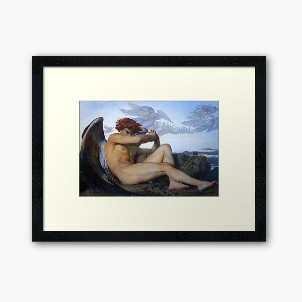 Fallen Lucifer (Fallen Angel by Alexandre Cabanel) Framed Art Print