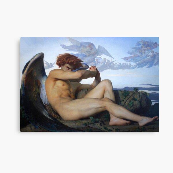 Fallen Lucifer (Fallen Angel by Alexandre Cabanel) Canvas Print