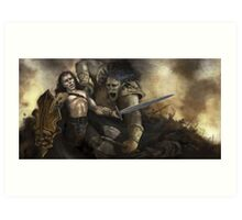The Ogre Battle Art Print