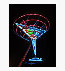 Neon Martini Photographic Print