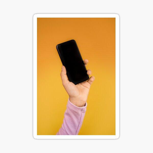 geek phone addict Sticker