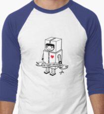 For today I am a robot Men's Baseball ¾ T-Shirt