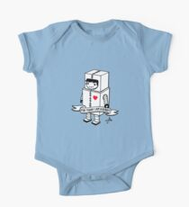 For today I am a robot Short Sleeve Baby One-Piece
