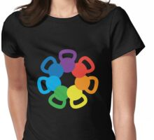 Rainbow Kettlebell Womens Fitted T-Shirt