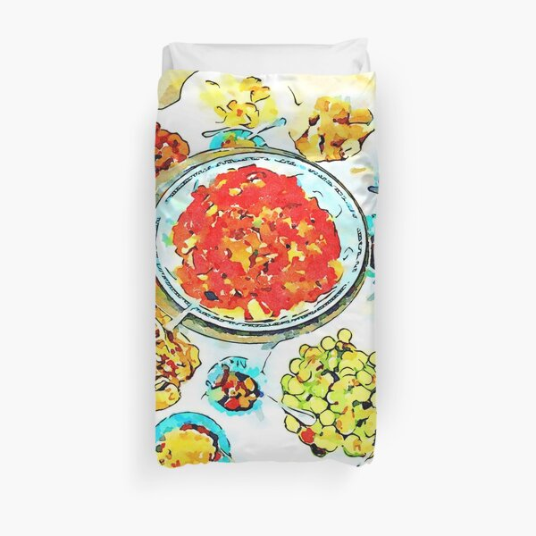 Typical dishes Duvet Cover