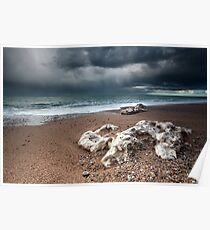 Stormy coast Poster