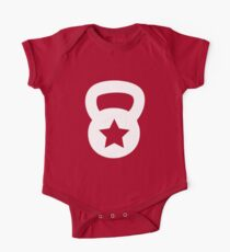 White Kettlebell With A Star One Piece - Short Sleeve