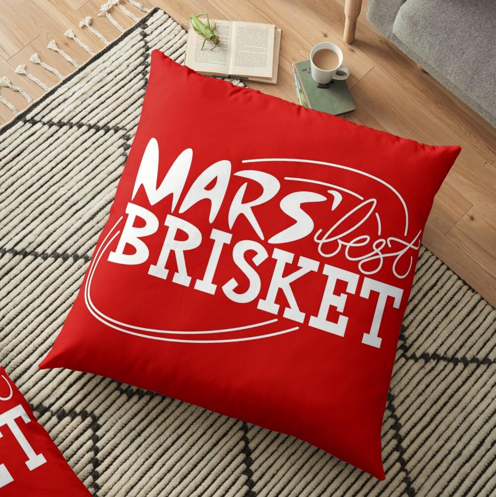 Mars' Best Brisket Official Crew Member (White) Floor Pillow