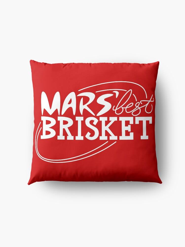 Alternate view of Mars' Best Brisket Official Crew Member (White) Floor Pillow