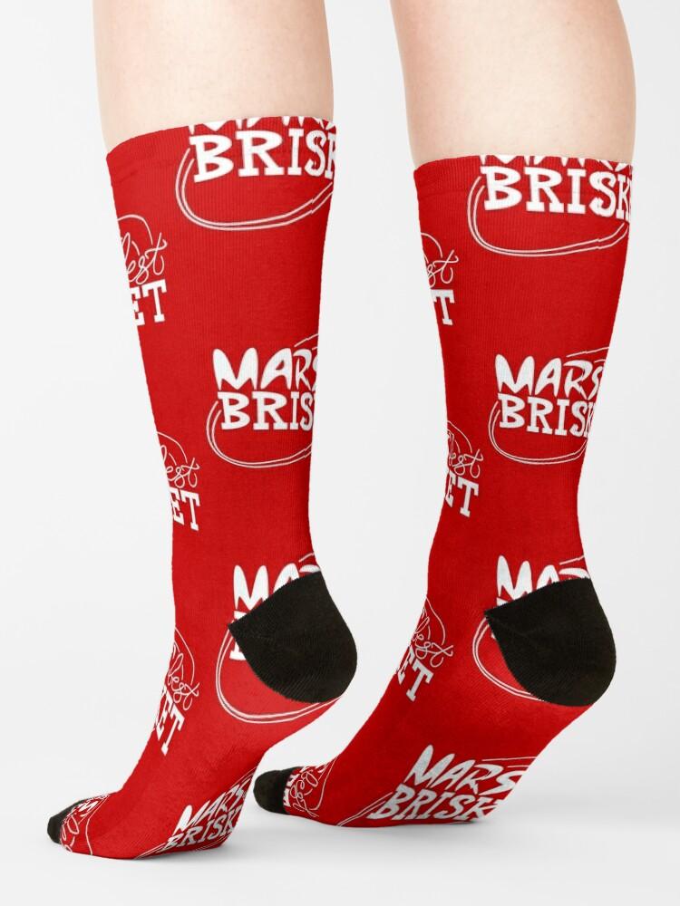 Alternate view of Mars' Best Brisket Official Crew Member (White) Socks