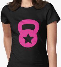 Pink Grunge Kettlebell With A Star T-Shirt