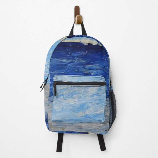 Simple seascape / acrylic painting Backpack