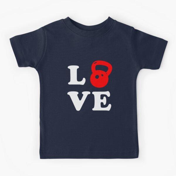 Kettlebell Love para Crossfit Camiseta para niños