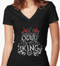 CROWLEY IS MY KING Women's Fitted V-Neck T-Shirt