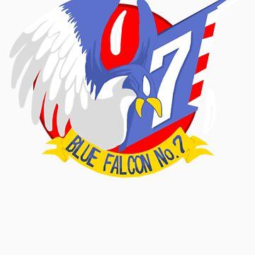 Blue Falcon Tee by KevinFlynn