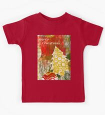 Xmas Card Design 105 in Traditional Colours Kids Tee