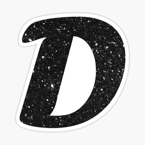 Letter D Pink Glitter Stickers