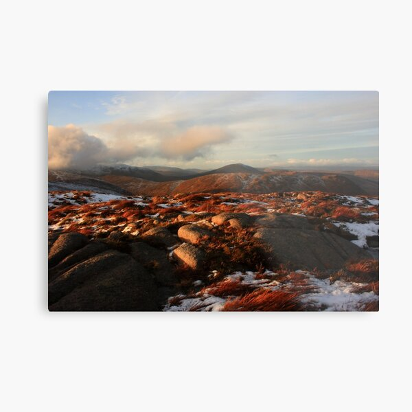 Warm Light On Cold Croaghnageer Metal Print