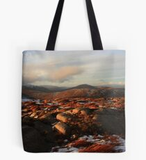 Warm Light On Cold Croaghnageer Tote Bag